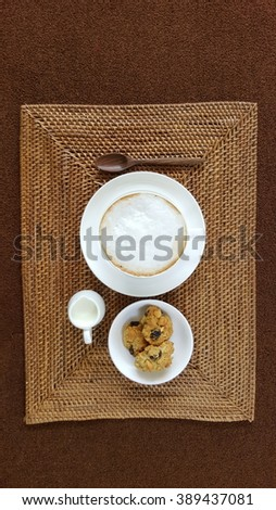 coffee with cookies - stock photo
