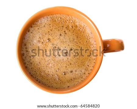 coffee with foam - stock photo