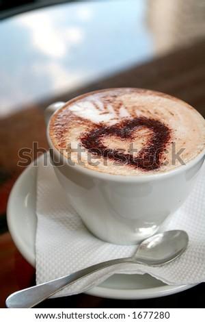 Coffee with love - stock photo