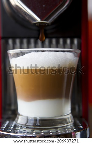 coffee with milk - stock photo