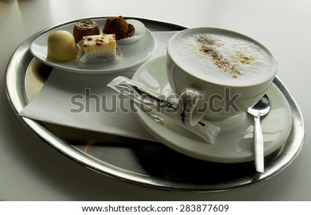 Coffee with pastry  - stock photo