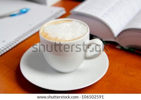 coffee&work - stock photo