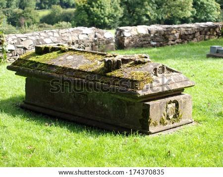 Coffin Celtic - stock photo
