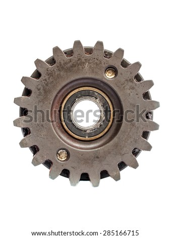 cog gear wheels on white background. - stock photo