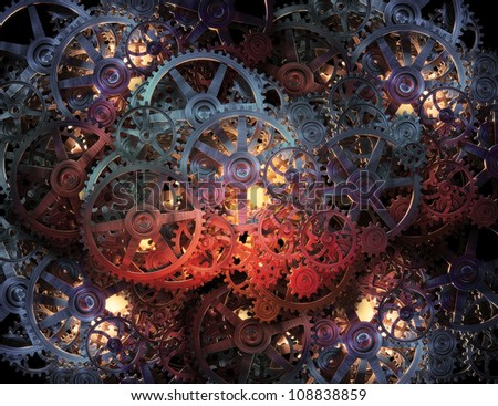 Cog wheel and gears background - stock photo
