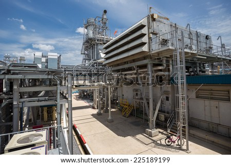 Cogeneration power plant  - stock photo