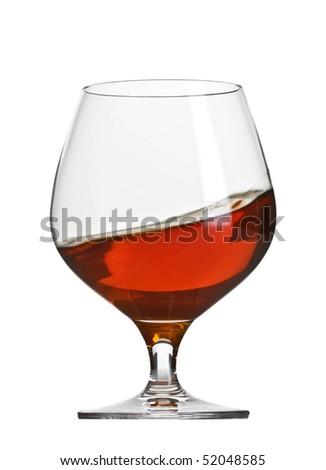 cognac brandy glass - stock photo
