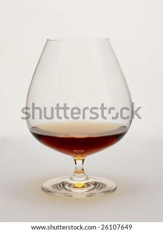 Cognac in glass - stock photo
