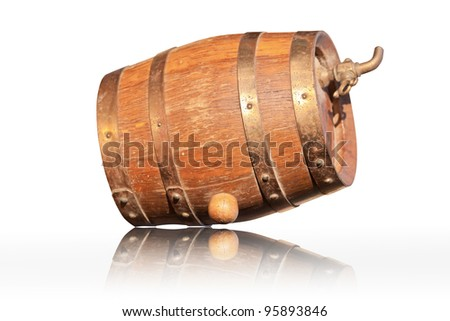 Cognac in Oak Barrels - stock photo