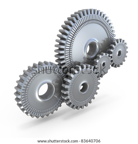 Cogwheel Gears - stock photo