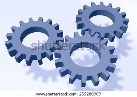 cogwheel gearwheel collaboration organization network - stock photo