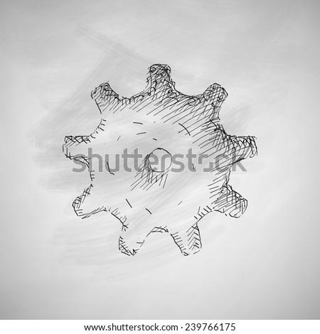 cogwheel icon - stock photo