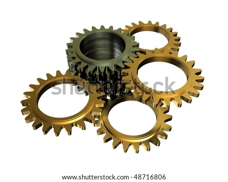cogwheel mechanism - stock photo