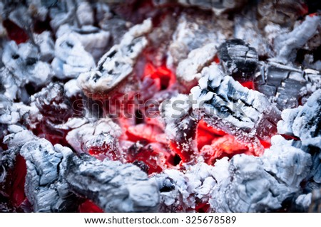 Coil in the Fireplace - stock photo
