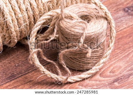 coil of rope - stock photo