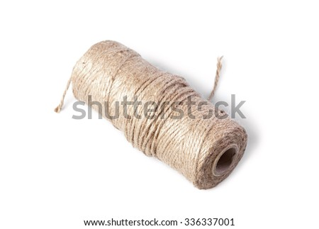 Coil of rope isolated on white background - stock photo