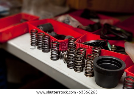 Coils and spare parts - stock photo