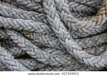 Coils of strong rope - stock photo