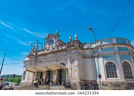 COIMBRA, PORTUGAL - JUNE 8: Coimbra-A Station in Coimbra, Portugal on June 8, 2016. Coimbra is the largest city of the district of Coimbra, the Centro region.