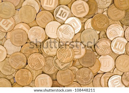 coin background - stock photo