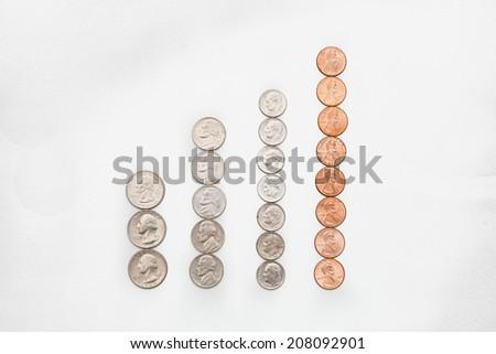 Coin bars - stock photo