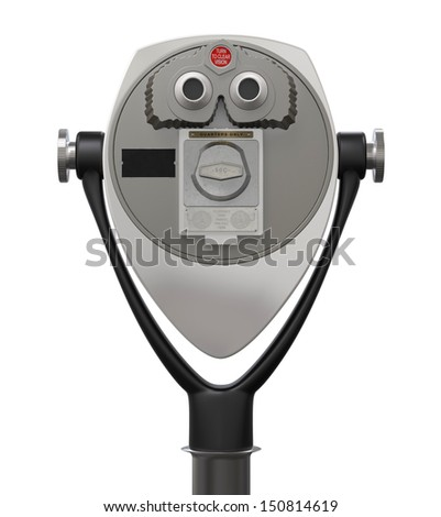 Coin Binocular Viewer - stock photo