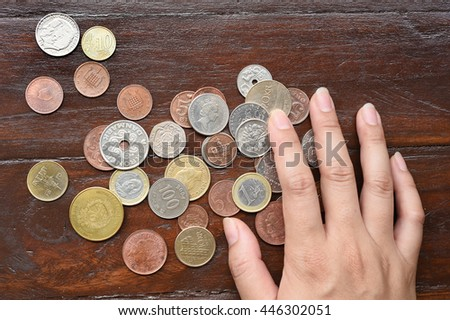 coin collection for background