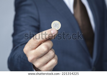 coin for you - stock photo