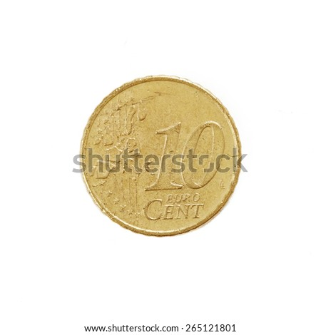 Coin isolated on white background - stock photo