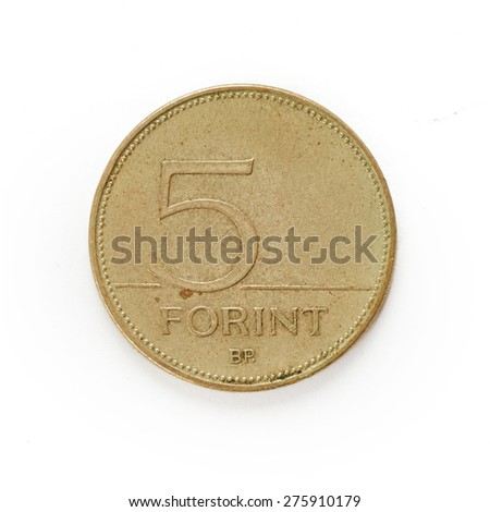 Coin isolated on white background