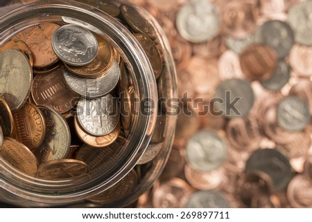 Coin Jar - stock photo