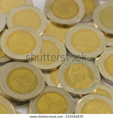 coin money /money stock thai bath  - stock photo