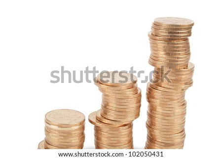 Coin on white background