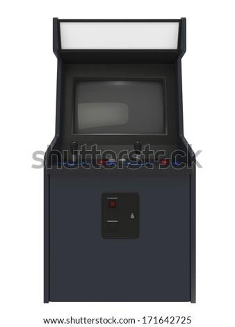Coin operated arcade machine - stock photo
