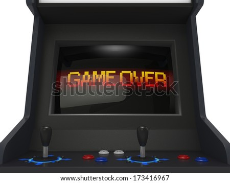 Coin Operated Arcade Machine Game Over Stock Illustration ...