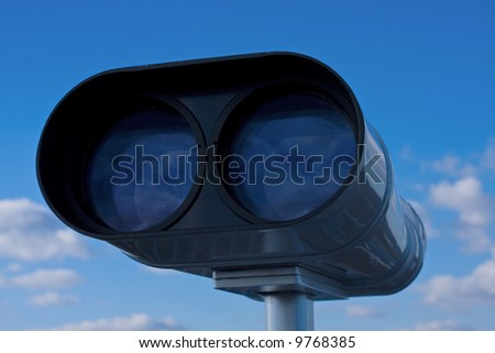Coin Operated Binocular front