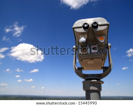Coin operated binocular to look at view