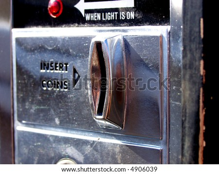 coin operated machine - stock photo