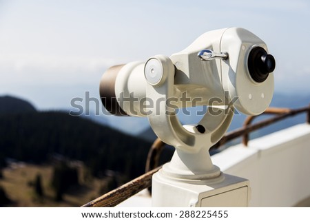 Coin Operated Telescope - stock photo
