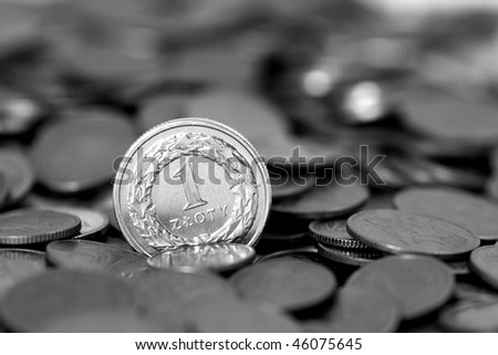 Coin - Polish currency - stock photo