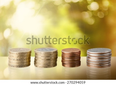 Coin. Stacks of Coins - stock photo