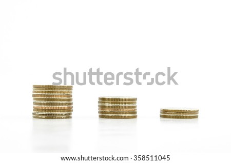 coin symbol graph isolated on white background - stock photo