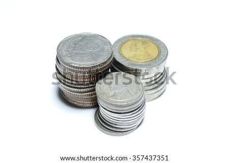coin thai - stock photo
