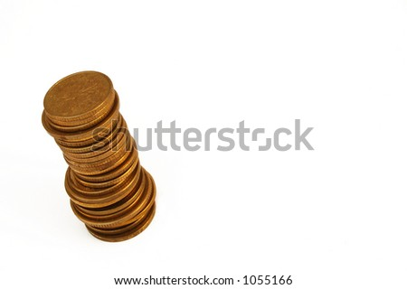 coin tower - stock photo