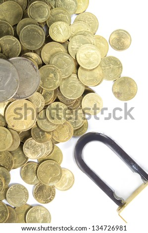 Coin with padlock