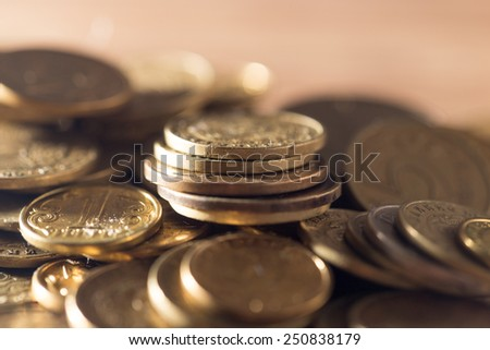 coins - stock photo