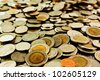 Coins background (Depth of field) - stock photo