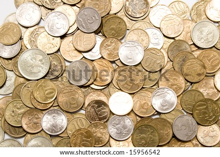 Coins background / texture - stock photo