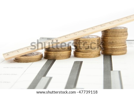 Coins chart - stock photo