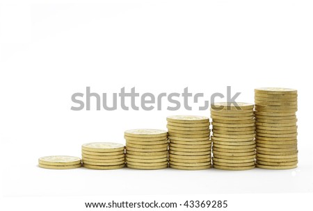 coins, displaying a growing